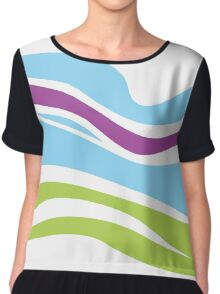 Waves pattern. Elegant abstract texture design Chiffon Top