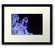 Olaf Paint the Night Framed Print
