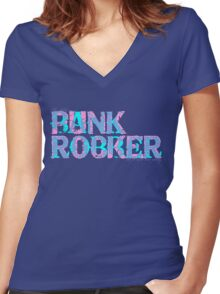 Bank Robber/Punk Rocker Women's Fitted V-Neck T-Shirt