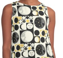 Mod Style Op Art Phases of the Moon Contrast Tank