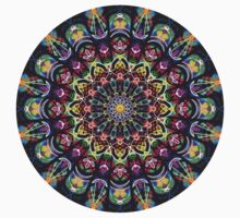 COLORFUL PSYCHEDELIC MANDALA Kids Tee