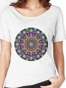 COLORFUL PSYCHEDELIC MANDALA Women's Relaxed Fit T-Shirt