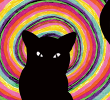 time for child stories: the BLACK CAT Sticker