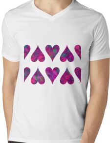 Hearts iPhone / Samsung Galaxy Case Mens V-Neck T-Shirt