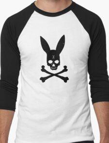Bunny Bones (Black) Men's Baseball ¾ T-Shirt