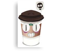 Smug Coffee Mug Canvas Print