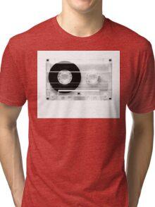 cassette  illustration - black and white tape  Tri-blend T-Shirt