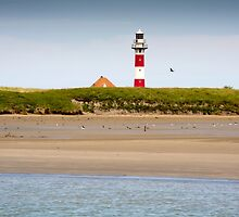 Lighthouse in Nieuwpoort Belgium. by M. van Oostrum