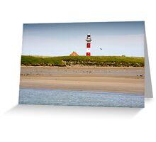 Lighthouse in Nieuwpoort Belgium. Greeting Card