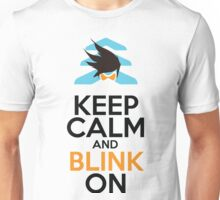 Keep Calm and Blink On Unisex T-Shirt