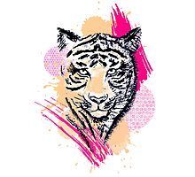 Abstract Tiger Photographic Print