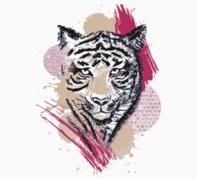 Abstract Tiger Kids Clothes