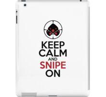 Keep Calm and Snipe On iPad Case/Skin