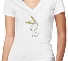 Lapinot, le lapin vagabond Women's Fitted V-Neck T-Shirt