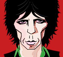 KEITH RICHARDS CARTOON by FieryFinn77