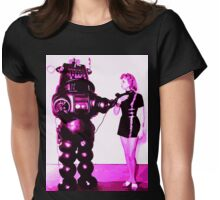 girl & robot love Womens Fitted T-Shirt