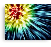Abstract Dark Tie Dye Canvas Print