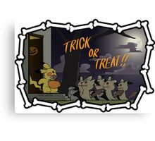 Trick or Treat From Mimikyu Canvas Print