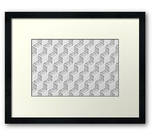 Pen Box Pattern Framed Print