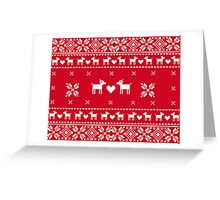 Christmas Pullover Dog  Greeting Card