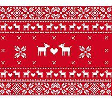 Christmas Pullover Dog  Photographic Print
