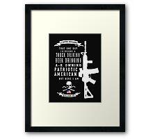 American Patriot Framed Print