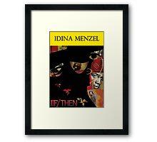 Idina Menzel Broadway Shows Framed Print