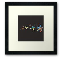 Turtle Fam Framed Print