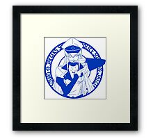 Jaegers Special Police Squad - Blue Framed Print