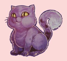 Purple Cat Kids Tee
