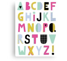 Super alphabet Canvas Print