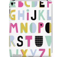 Super alphabet iPad Case/Skin