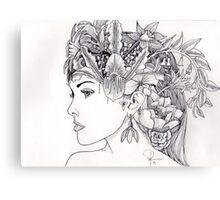 Floral Woman Canvas Print