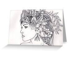 Floral Woman Greeting Card