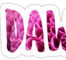 Go Dawgs ~floral text~ Sticker