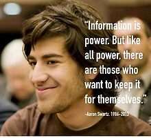 Information quote by Aaron Swartz by JSThompson