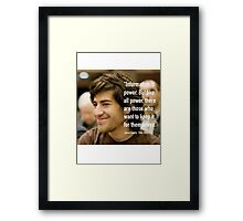 Information quote by Aaron Swartz Framed Print
