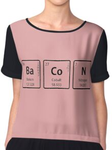 BaCoN Spelled with Periodic Table Element Symbols Chiffon Top