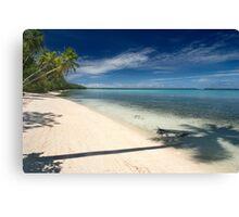And Atoll Shoreline - Pohnpei, Micronesia Canvas Print