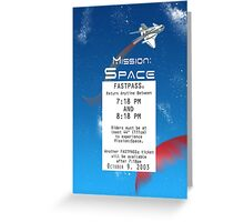 Mission Space Fastpass Greeting Card