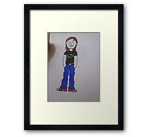 cartoon girl batman tshirt  Framed Print