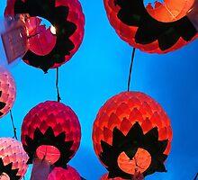 Buddhist Prayer Lanterns - Samgwang Temple, South Korea by Alex Zuccarelli