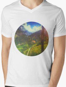 Valley Window View Mens V-Neck T-Shirt