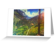 Valley Window View Greeting Card