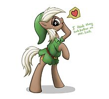 Epona in Hero's Clothes by anearbyanimal Photographic Print
