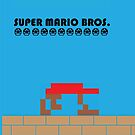 Mario Poster - Minimalized by Charles Caldwell