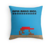 Mario Poster - Minimalized Throw Pillow