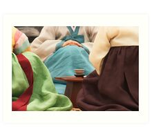 Korean Tea Ceremony - Busan, South Korea Art Print
