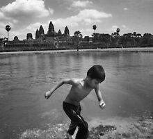Angkor Wat Swim - Angkor Wat, Cambodia by Alex Zuccarelli
