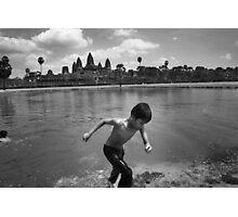 Angkor Wat Swim - Angkor Wat, Cambodia Photographic Print